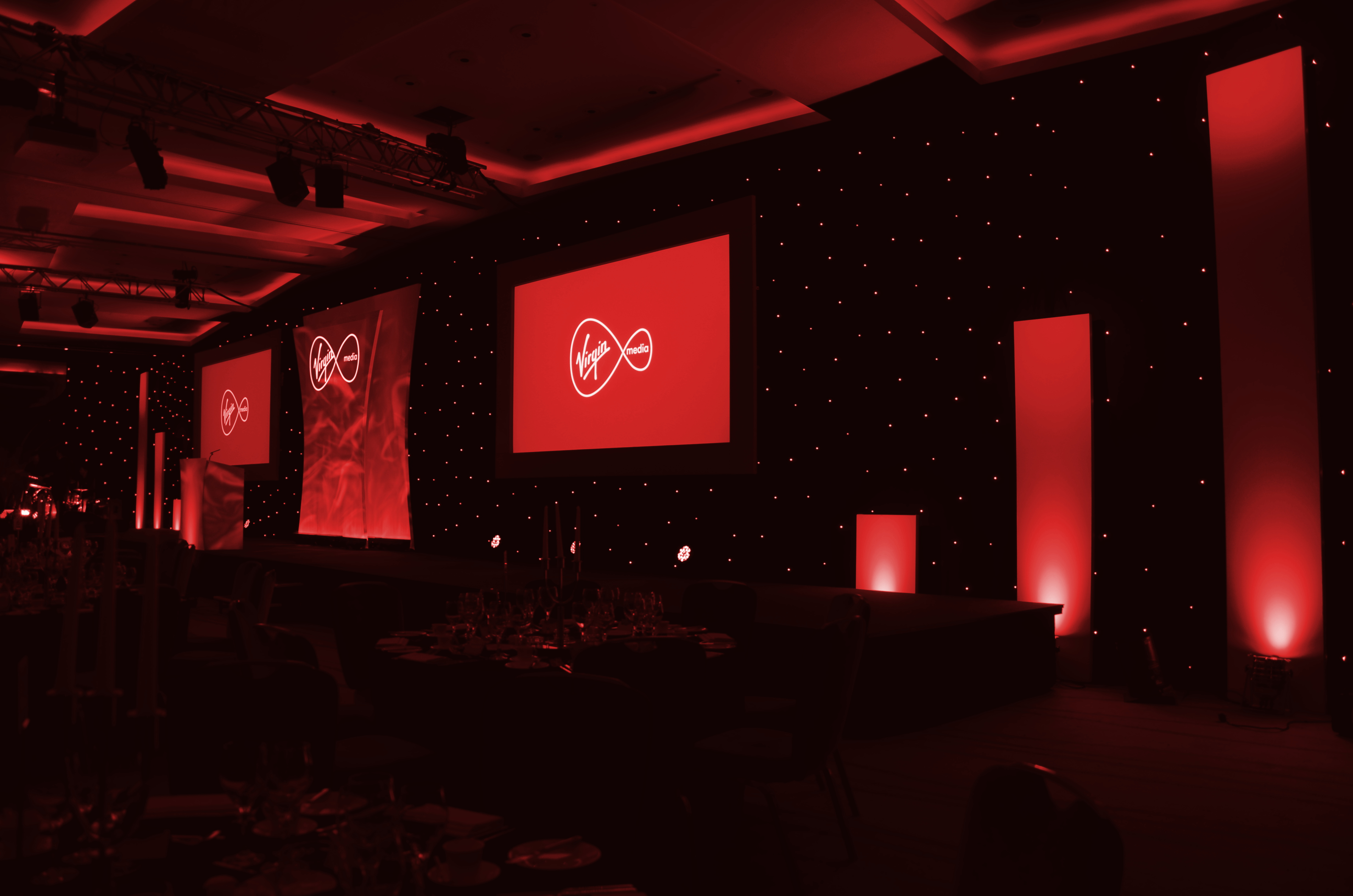 AV set for Virgin Media Edge Awards