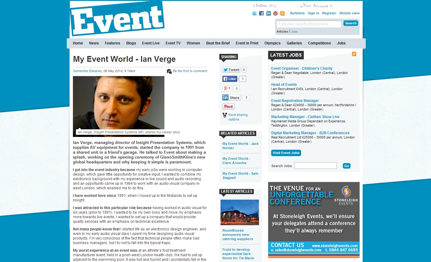 Event magazine - My Event World